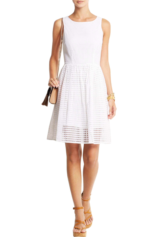 MICHAEL Michael Kors Broderie anglaise cotton dress