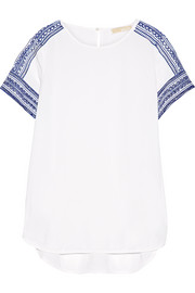 MICHAEL Michael Kors Embroidered crepe top