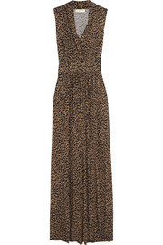 MICHAEL Michael Kors Printed stretch-jersey maxi dress