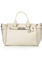 Swagger large studded textured-leather tote
