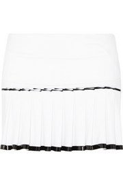 Monreal London Pleated stretch-jersey skirt