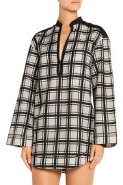 Proenza Schouler Checked cotton and silk-blend voile tunic