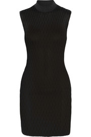 Latticed stretch-jersey mini dress