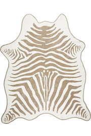 + Maslin & Co reversible zebra-print brushed-cotton beach towel
