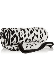 + Maslin & Co reversible leopard-print brushed-cotton beach towel