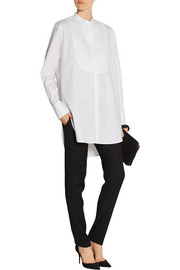 Bib-front cotton-poplin tunic