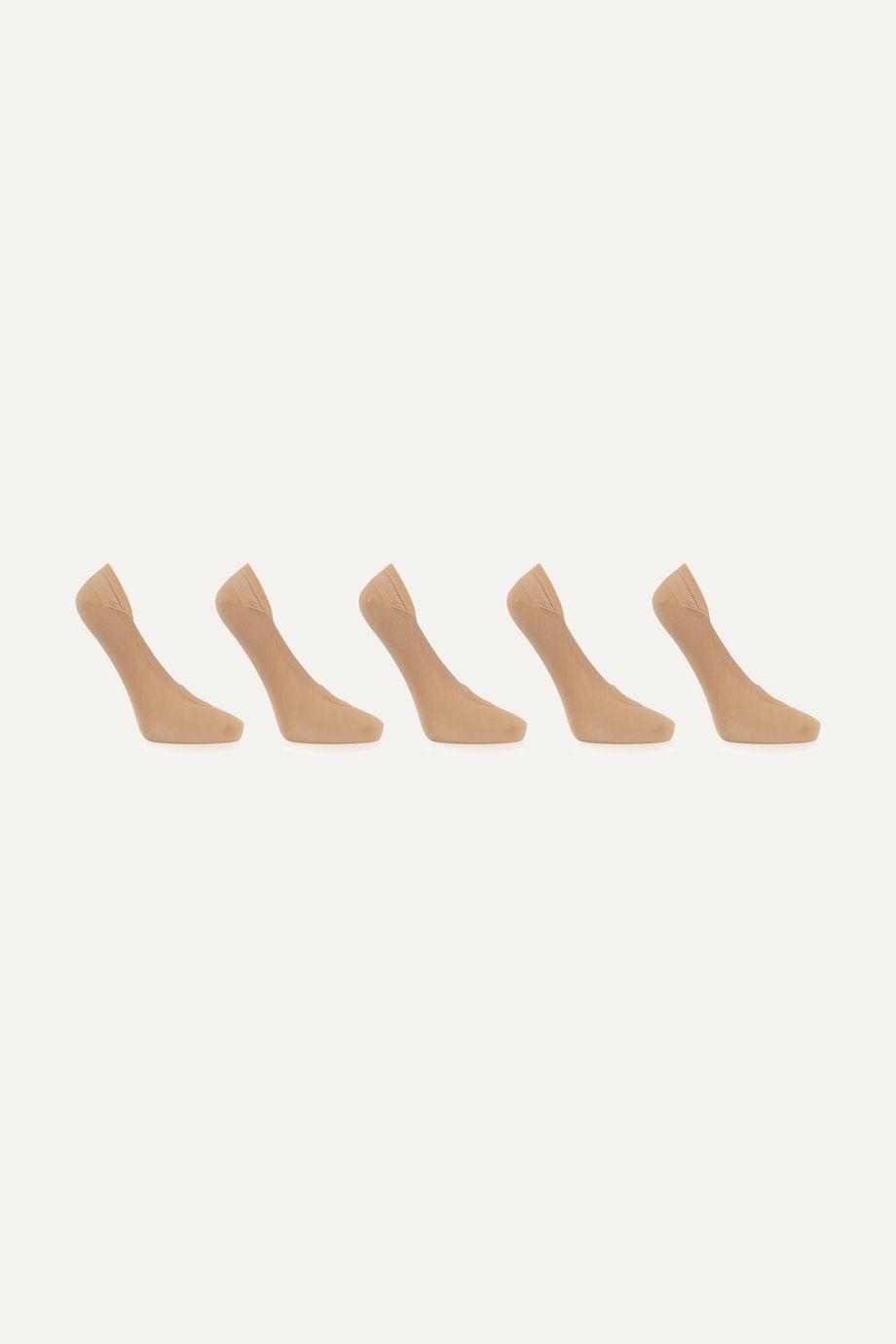 FALKE Cotton Step 针织船袜(五双装)