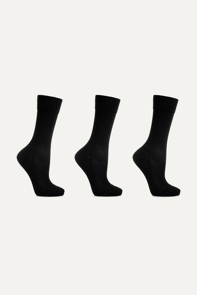Falke Set Of Three Cotton-Blend Socks