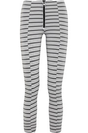 Hannah striped stretch-jersey leggings