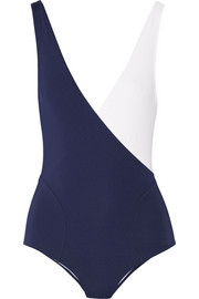 Carine two-tone bodysuit