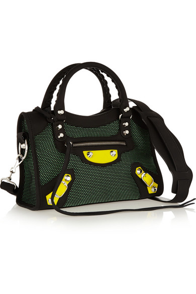 3b0b74d91b Balenciaga | City mini canvas and neoprene shoulder bag | NET-A ...