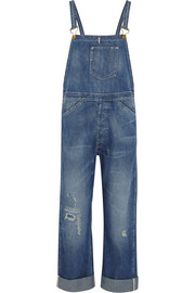Bib and Brace distressed denim overalls