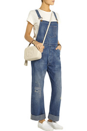 Levi's Vintage Clothing Bib and Brace distressed denim overalls