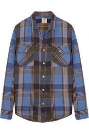 Shorthorn plaid brushed-cotton shirt