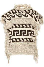 Texas knitted poncho