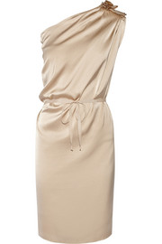 Day Fluents one-shoulder stretch-silk satin dress