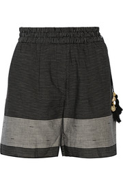 Day Caftan striped cotton shorts