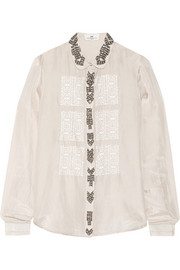 Day Gem embellished silk shirt