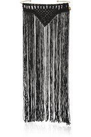 DAY Birger et Mikkelsen Day Meymaneh fringed silk and gold-plated necklace