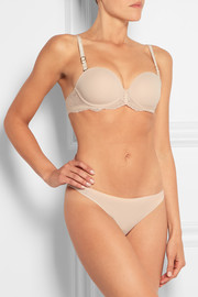 Smooth & Lace stretch-crepe and lace strapless bra