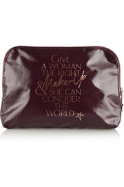 Charlotte Tilbury Signature coated twill makeup bag