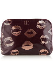 Signature coated twill makeup bag