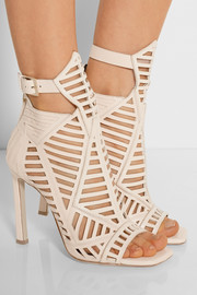 Cutout leather sandals