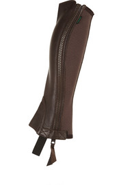 Breeze elasticated grained-leather chaps