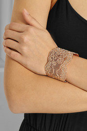Aurélie Bidermann Vintage Lace rose gold-plated cuff
