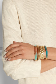 Aurélie Bidermann Braided gold-plated cuff