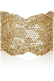 Aurélie Bidermann Vintage Lace gold-plated cuff