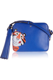 Frosties textured-leather shoulder bag