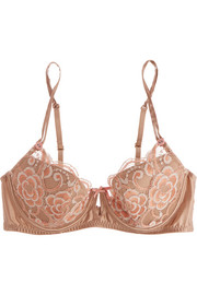 Sunrise Love lace and stretch-silk satin contour bra
