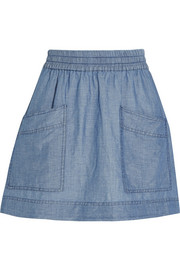 MiH Jeans Soleri linen and cotton-blend chambray mini skirt