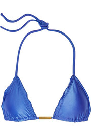 Undersea Ripple triangle bikini top