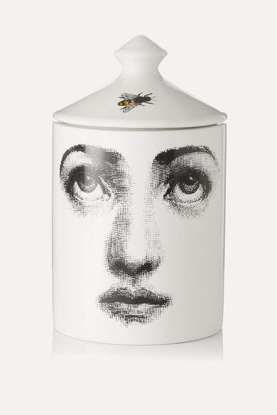 FORNASETTI L'Ape Thyme, Cedarwood And Lavender Scented Candle, 300G in White