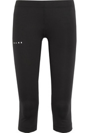 Speed mesh-paneled stretch-jersey leggings