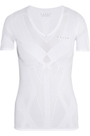 Running mesh-paneled jersey T-shirt