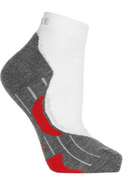 Stretch-knit running socks