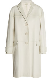 Miu Miu Oversized textured-leather coat