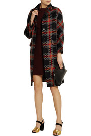 Miu Miu Oversized checked wool-tweed coat