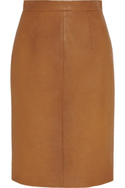 Miu Miu Textured-leather pencil skirt