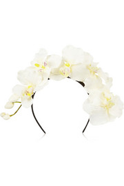 Orchid silk headband