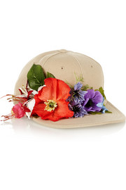 Piers Atkinson Flower-embellished canvas cap