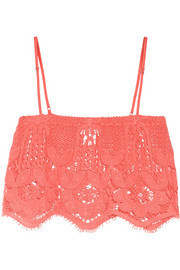 Miguelina Chandler cropped crocheted cotton top