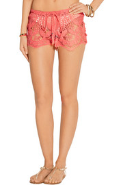 Miguelina Minnie crocheted cotton shorts