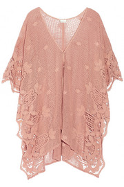 Gaby crocheted cotton kaftan