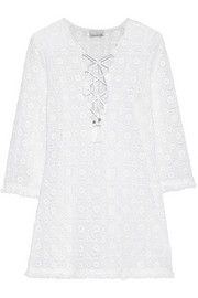 Serena crocheted cotton kaftan