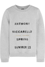 Printed cotton-blend jersey sweatshirt