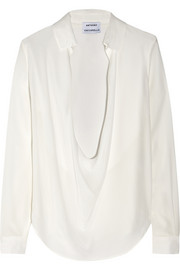 Anthony Vaccarello Washed-silk blouse